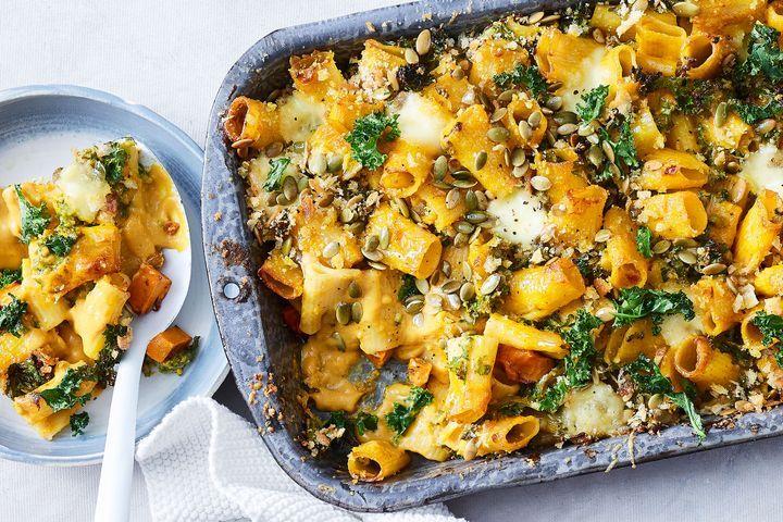 Vegetarian stroganoff pasta
