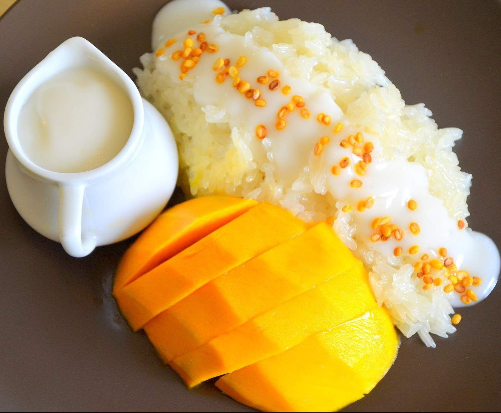 Coconut Rice with Grilled Mango