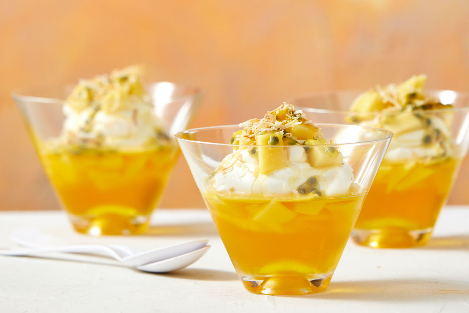 Passionfruit jelly cups