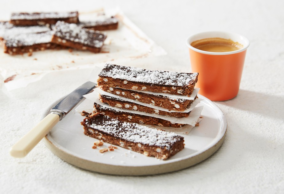 Chocolate and Almond Butter Slice